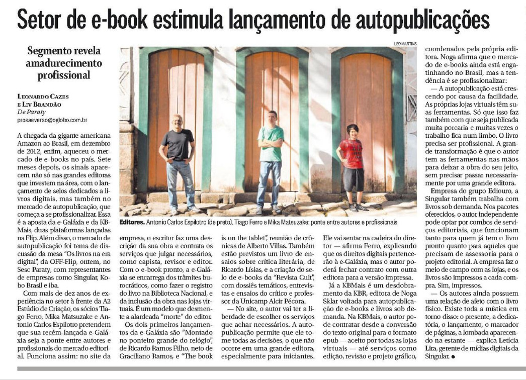 Setor de e-book estimula lançamento de autopublicações